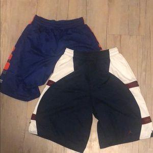 Two pair men's basketball shorts Nike Jordan Lg